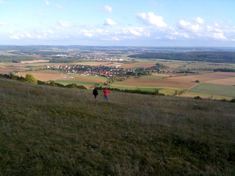 Blick vom Hesselberg Richtung Nördlinger Ries