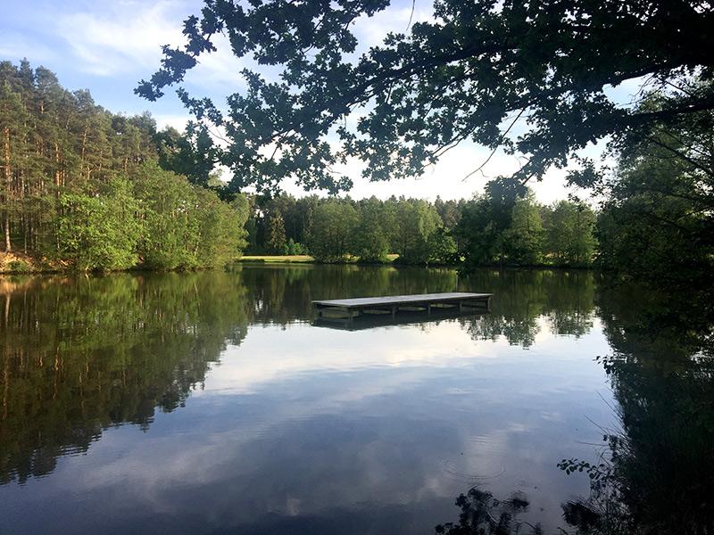 Naherholungsgebiet Krummweiher vielleicht 7 Kilometer entfernt