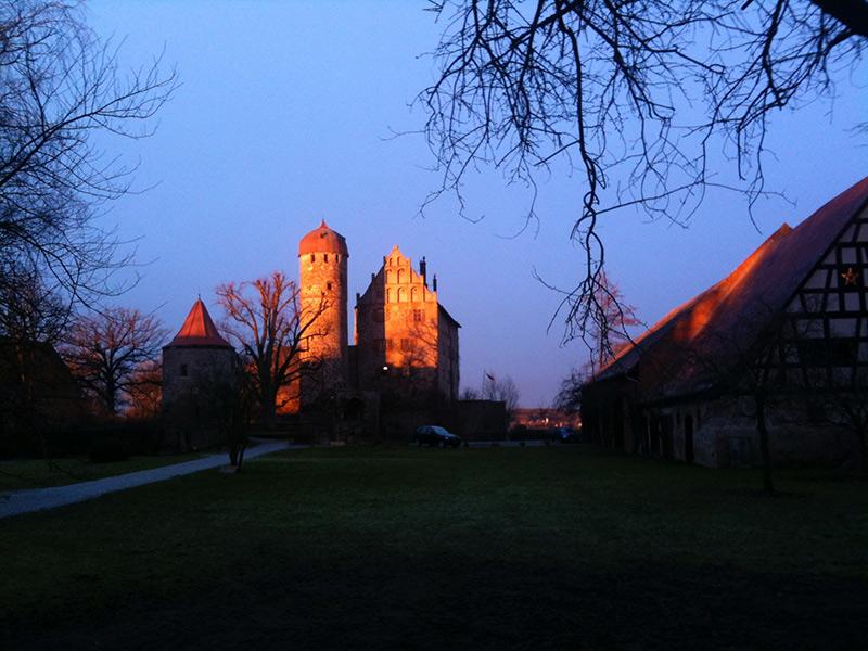 Schloss Sommersdorf bei Sonnenaufgang