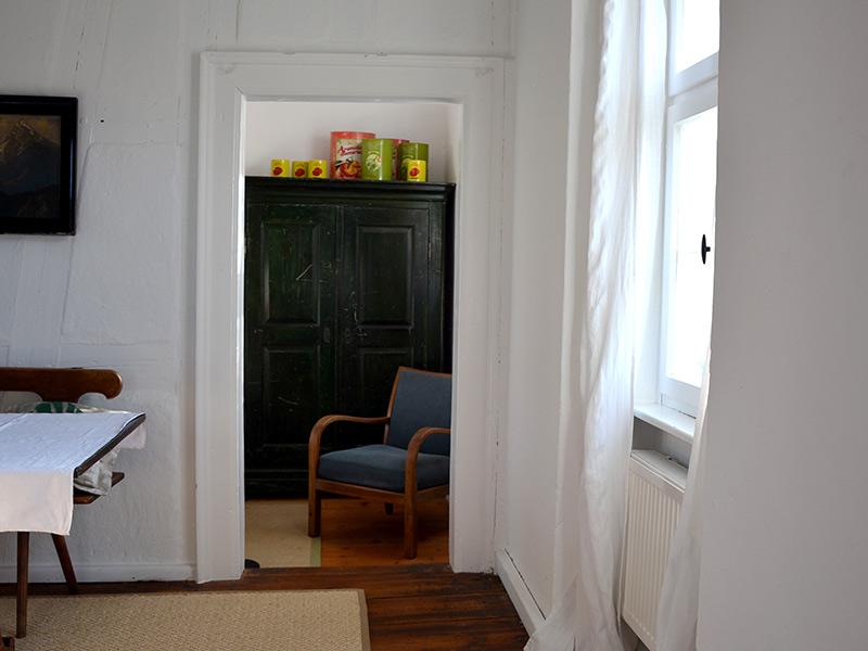Im Turm - Blick ins Schlafzimmer im ersten Stock
