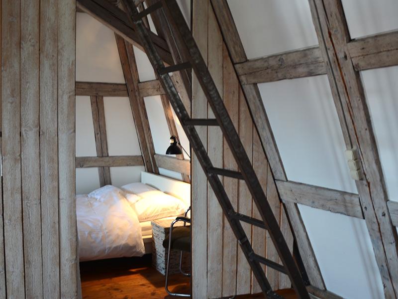 Im Turm - Doppelbett im Studio im zweiten Stock
