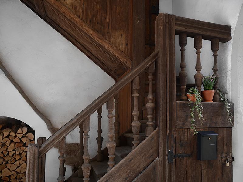 Torturm Sommersdorf - historischer Treppenaufgang